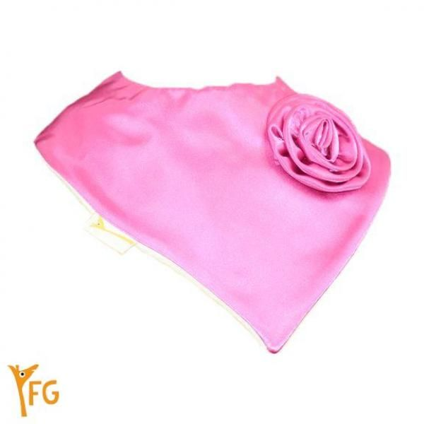 "Mini Bandanas satin""Glamour rose"""